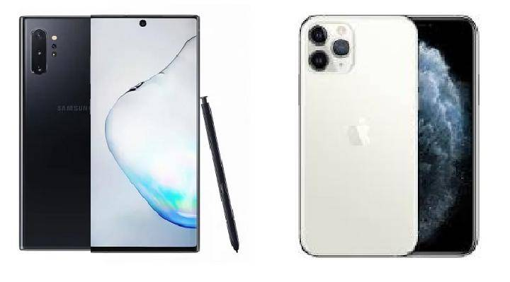 iPhone 11Pro vs Samsung Galaxy Note 10Plus