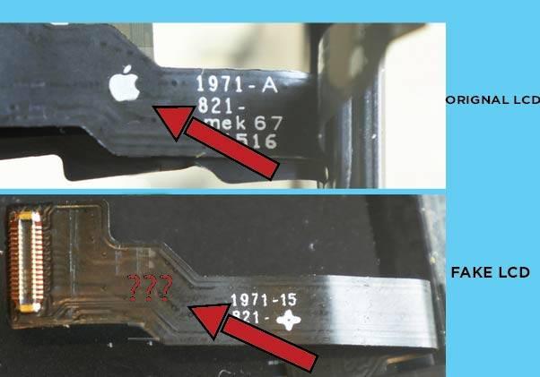 ORIGNAL IPHONE SCREEN VS COPIED IPHONE SCREEN