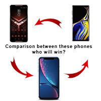 Comparison between phones